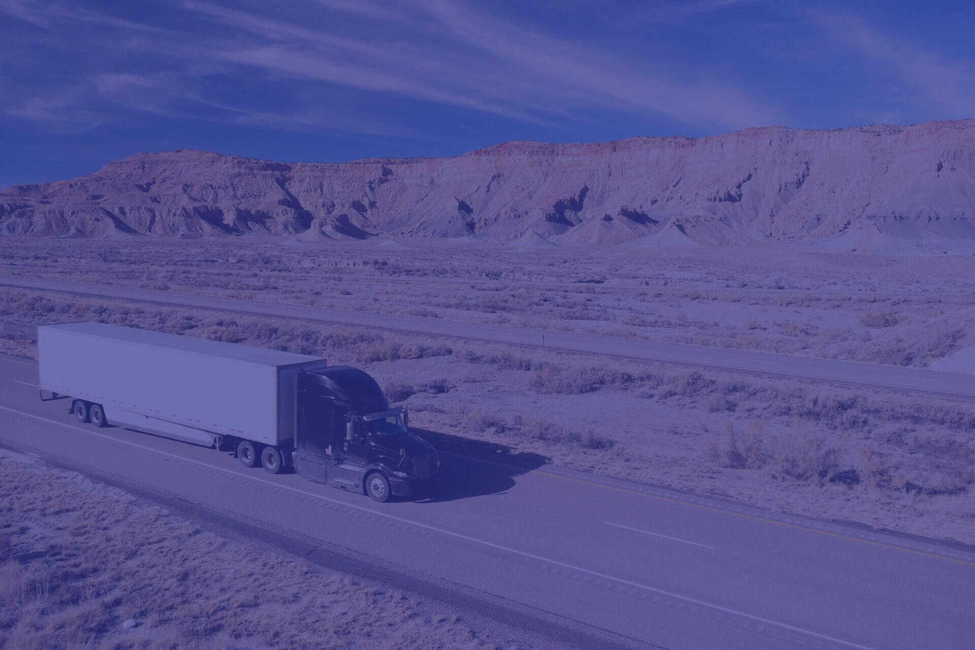 Semi truck making a cart and rack sweep-3